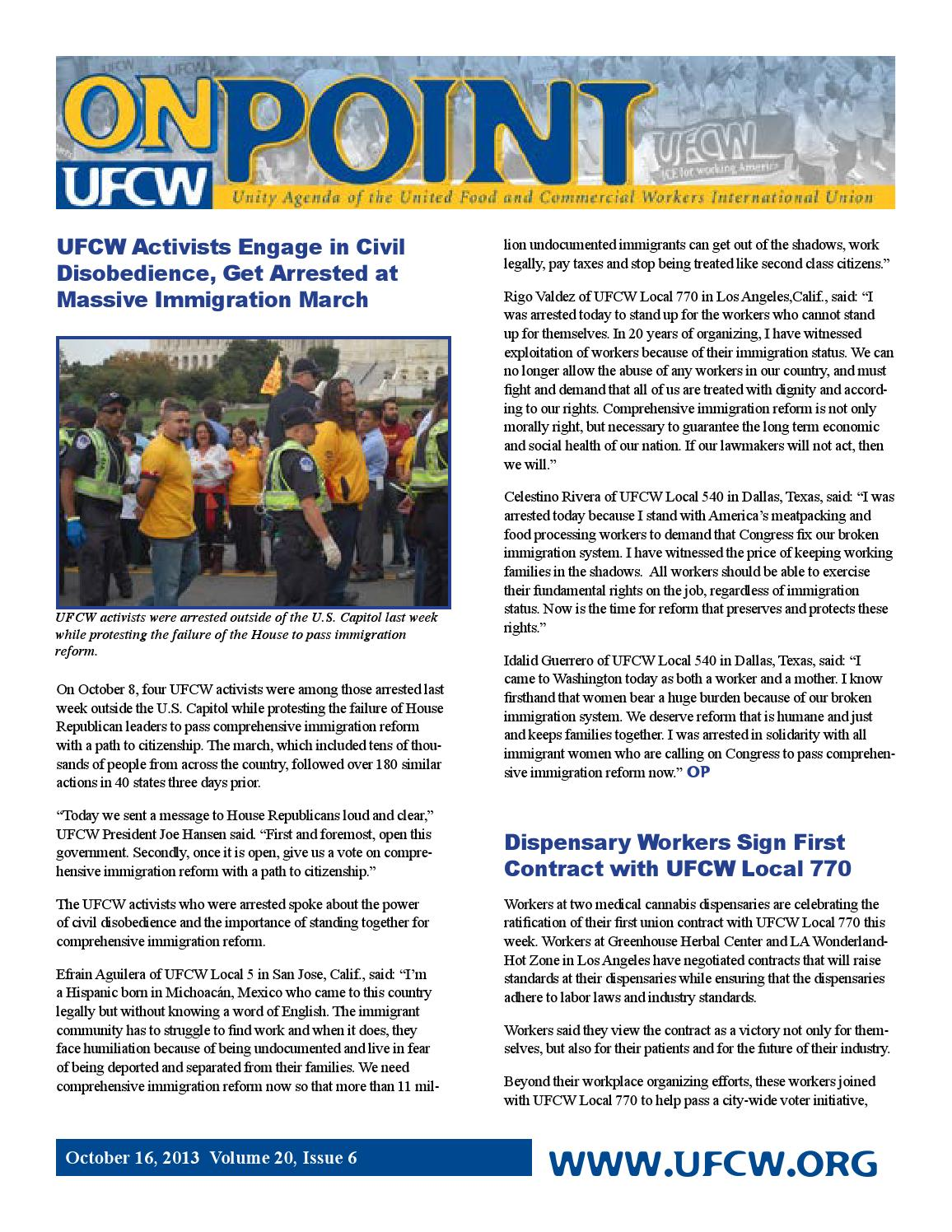 On Point Vol 20, Issue 6 by UFCW Local 1059 - issuu