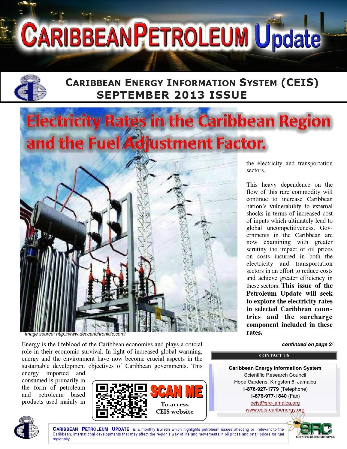 Petroleum Update - September 2013 by Caribbean Energy