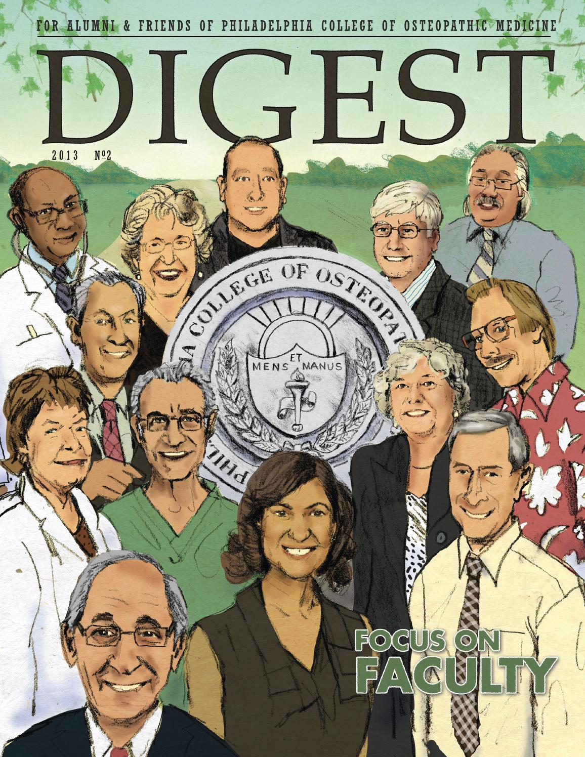 2013 digest no2 by Philadelphia College of Osteopathic