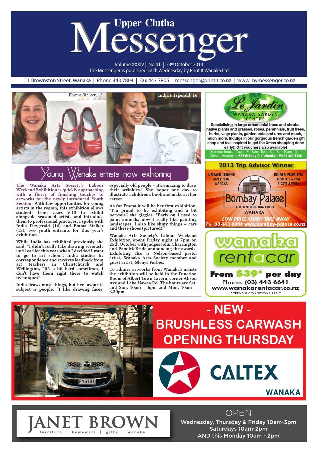 02bf89402a9 Upper clutha messenger 23rd october 2013 by Print It Wanaka Ltd - issuu