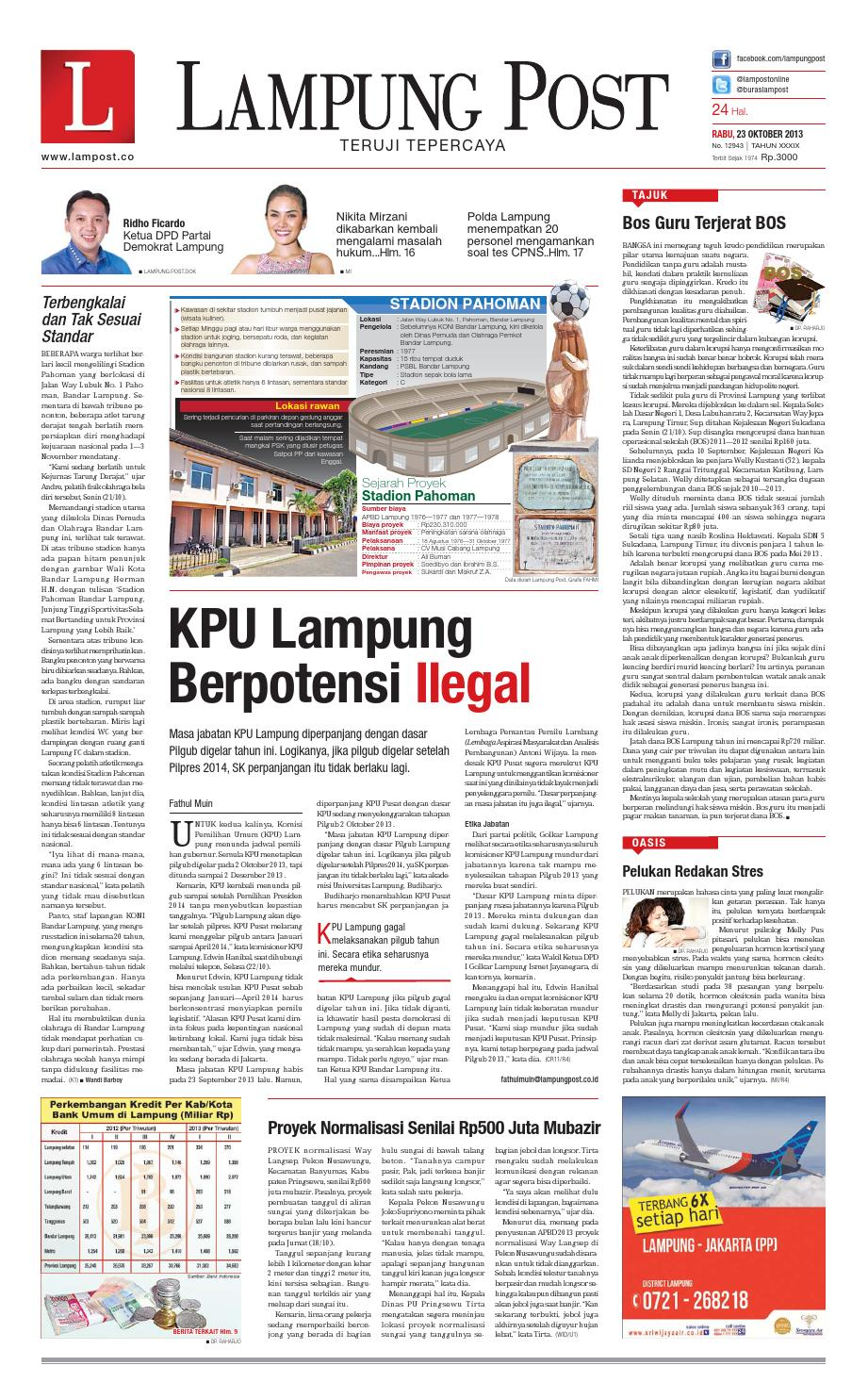 Lampung Post Rabu 23 Oktober 2013 By Lampung Post Issuu # Muebles Koyga Vigo