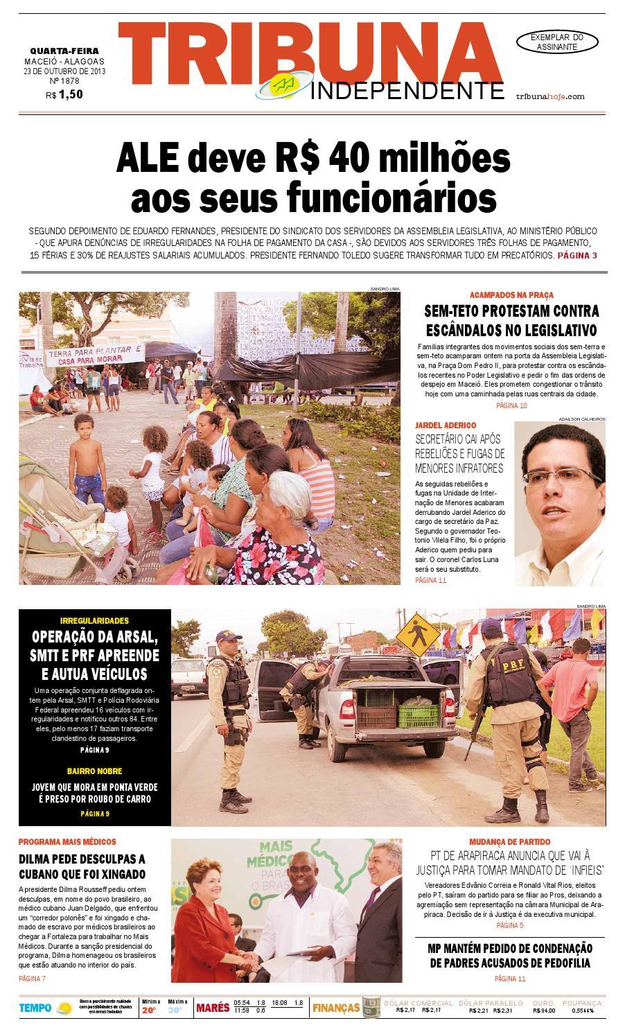 Edição número 1878 - 23 de outubro de 2013 by Tribuna Hoje - issuu da35977f2cb5a