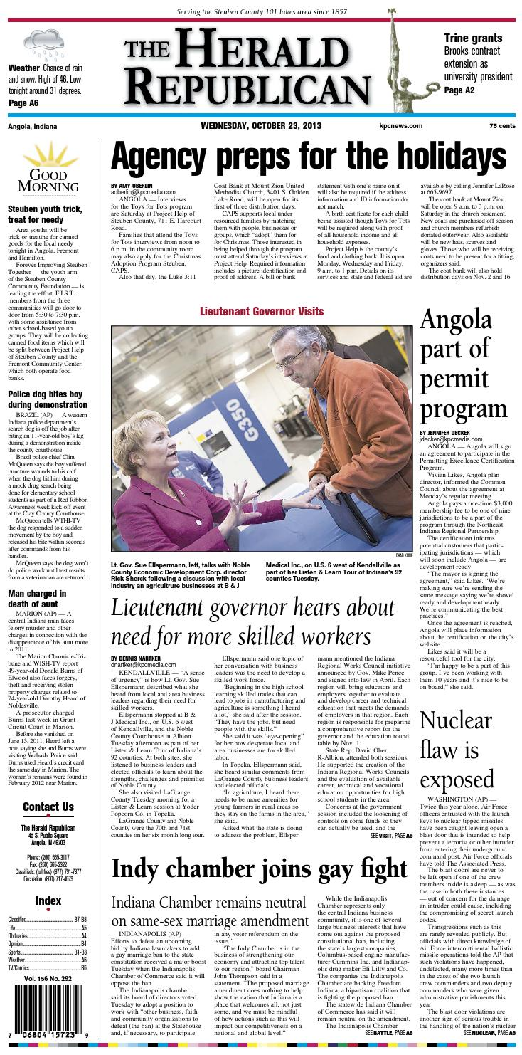 The Herald Republican – October 23, 2013 by KPC Media Group - issuu