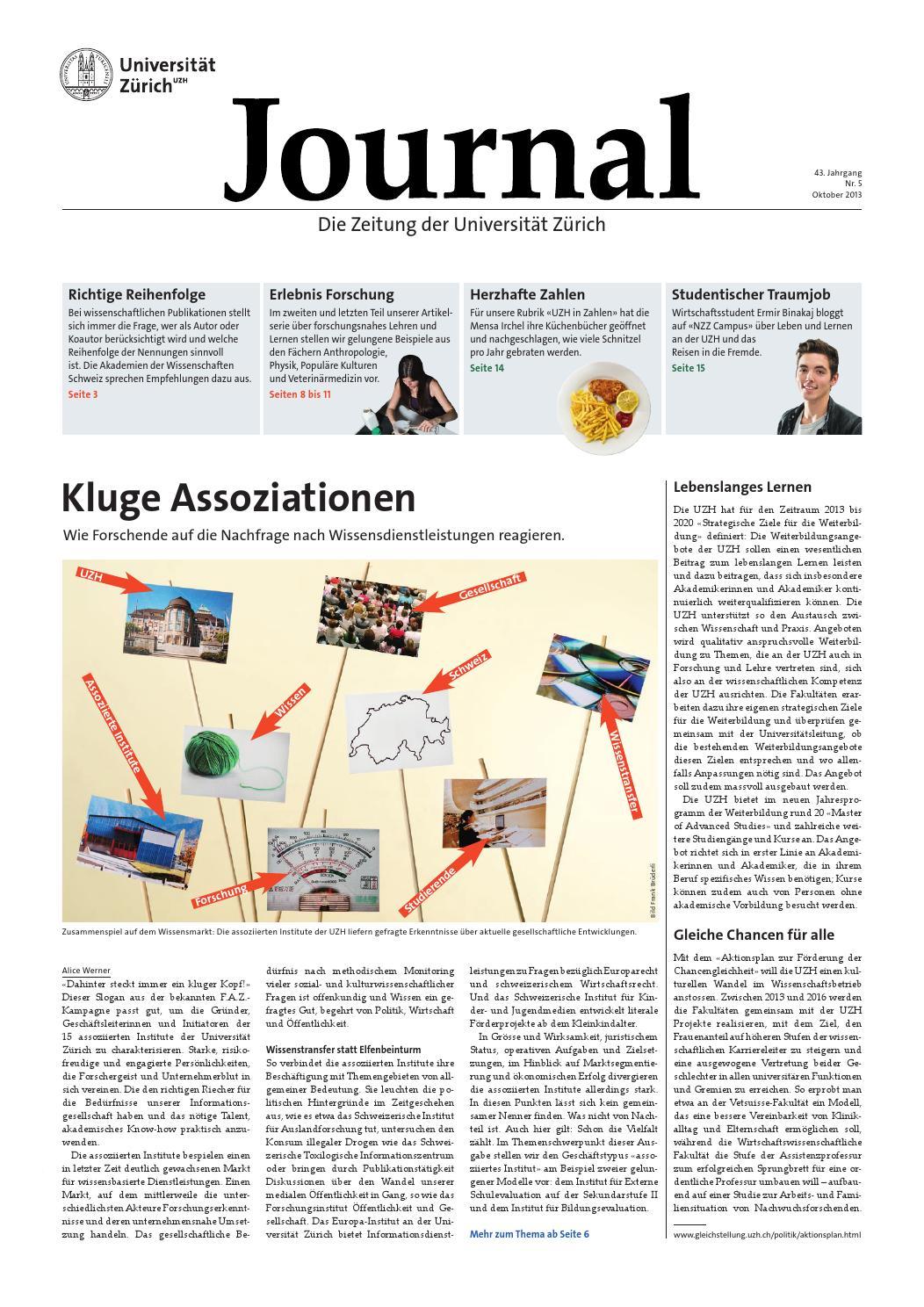 UZH Journal 5/13 by University of Zurich - issuu