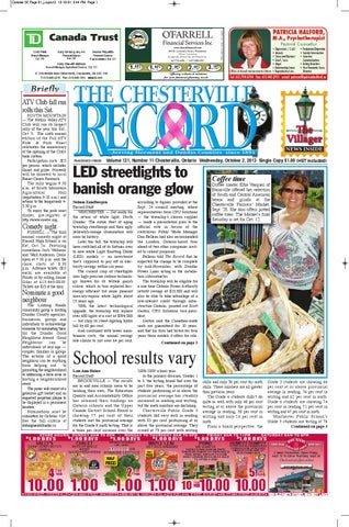 The Chesterville Record October 2 2013 By Robin Morris Issuu