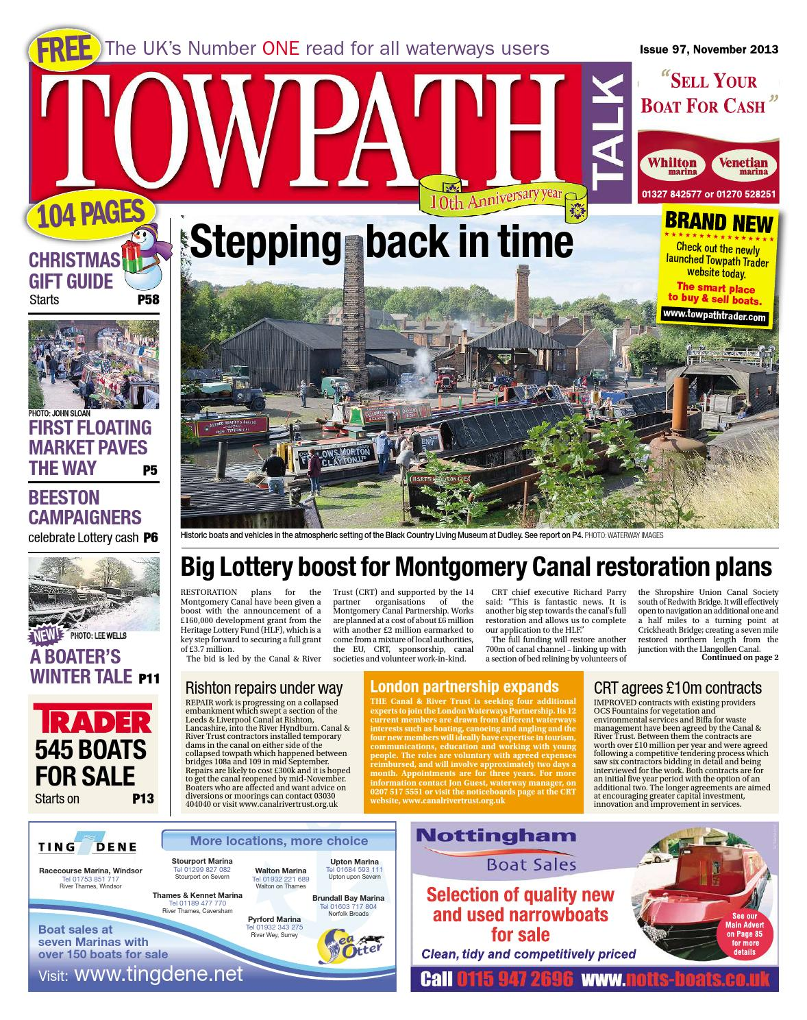 Towpath talk november 2013 full issue by mortons media group ltd issuu