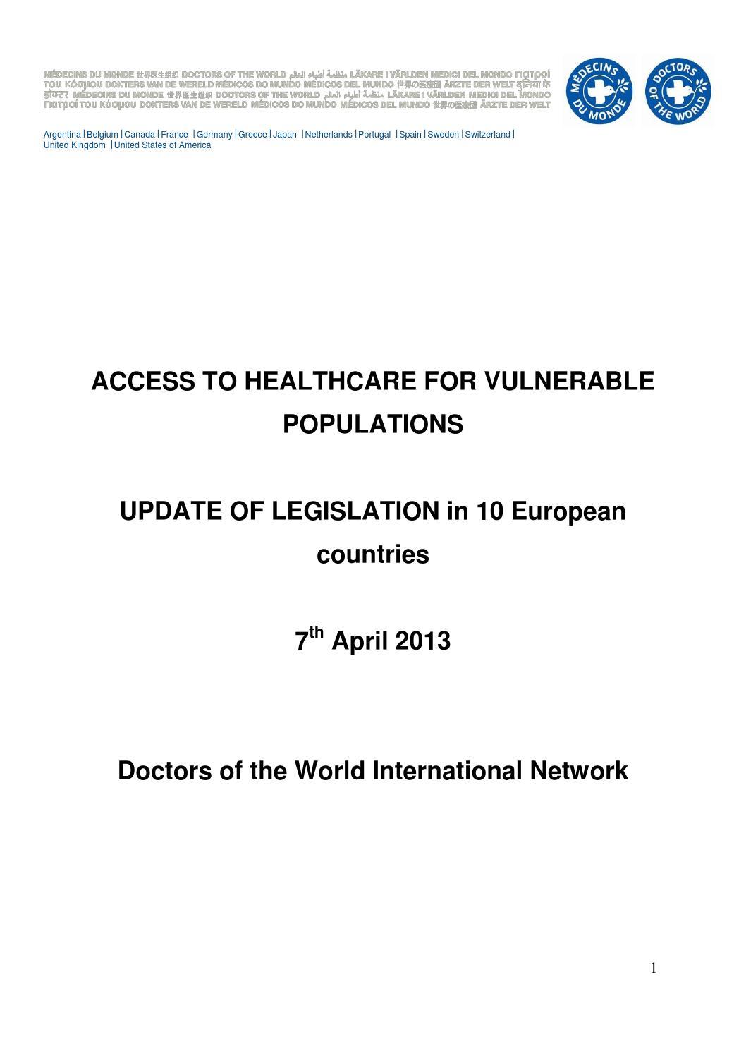 update legislations in eu mdm by m�decins du monde issuuupdate legislations in eu mdm