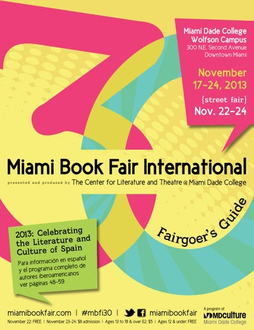 2013 MBFI Fairgoer S Guide By Miami Book Fair Issuu