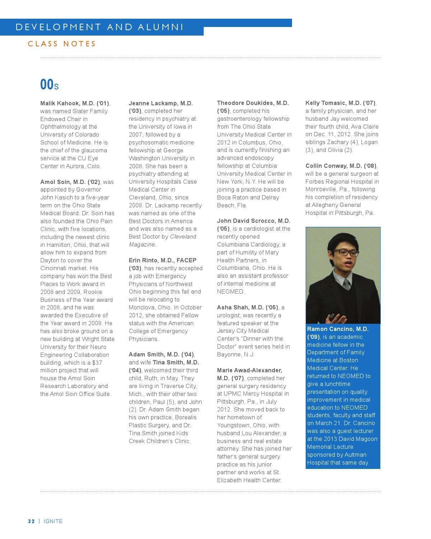 Ignite Magazine | Fall 2013 by NEOMED - issuu