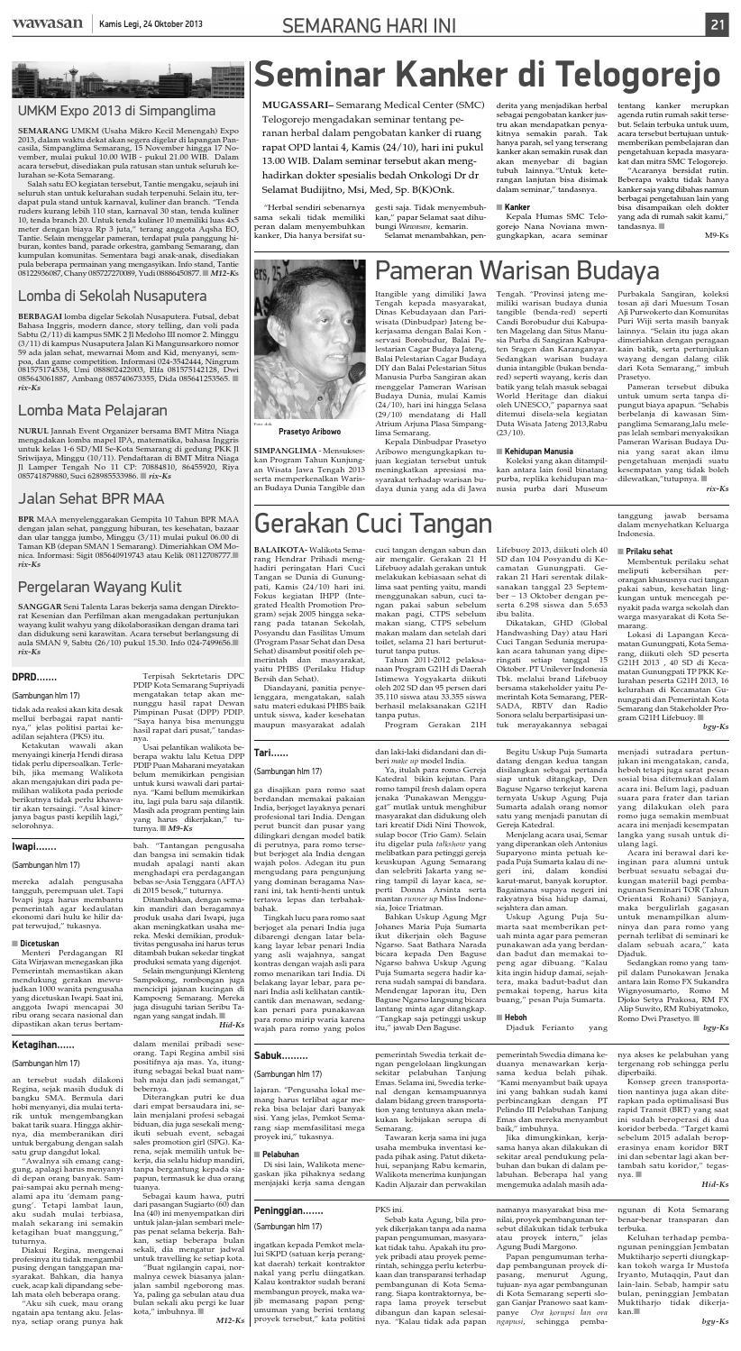 WAWASAN 24 Oktober 2013 By KORAN PAGI WAWASAN Issuu