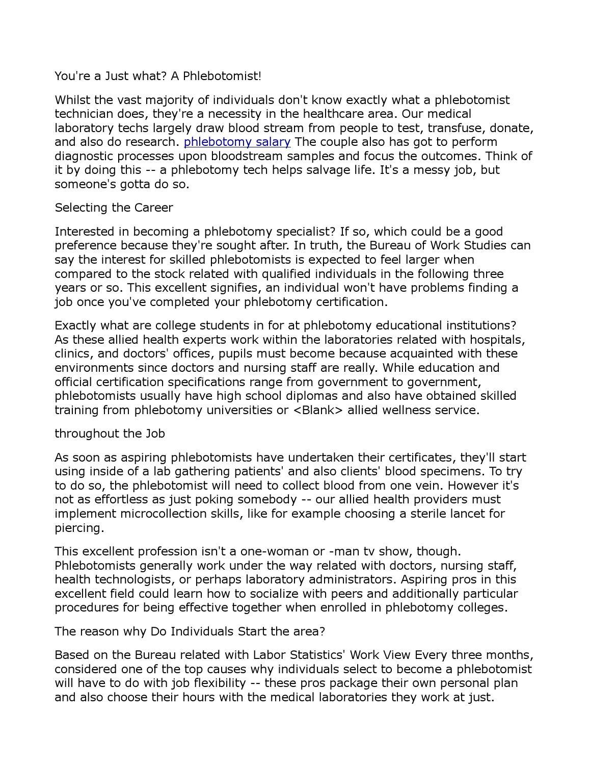 Phlebotomy Salary 71 By Rosemary1058 Issuu