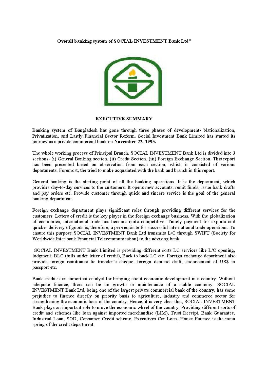 internship report on remittance