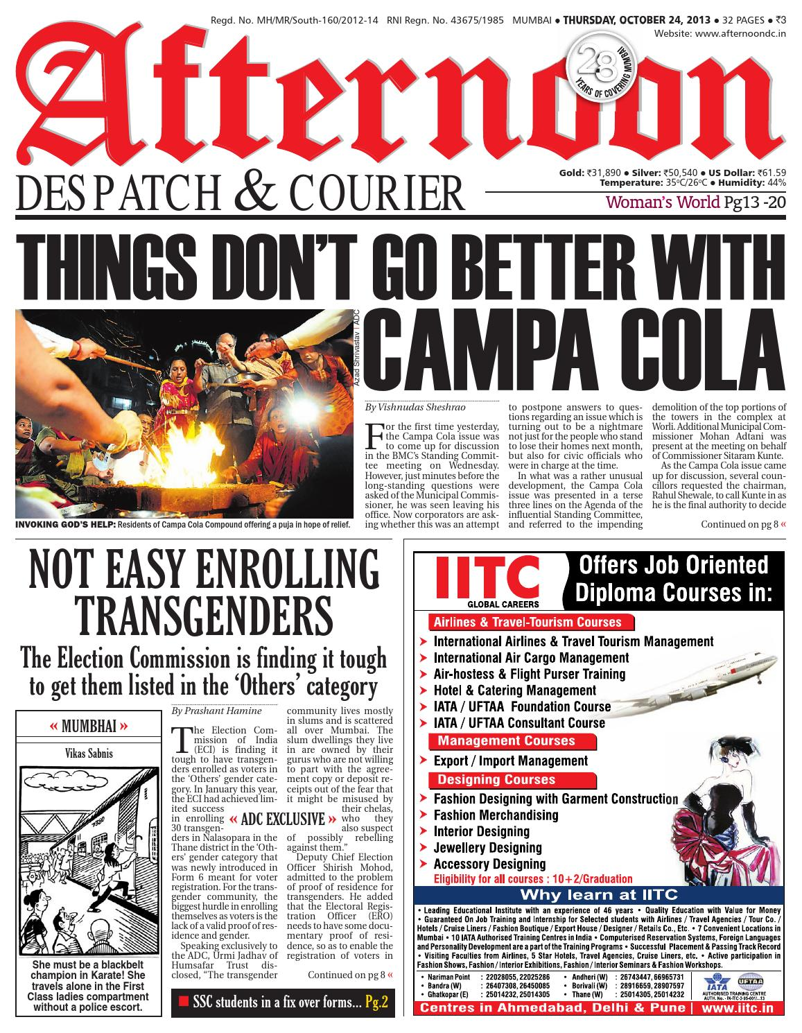 Adc 24 oct 2013 by Afternoon Despatch & Courier - issuu