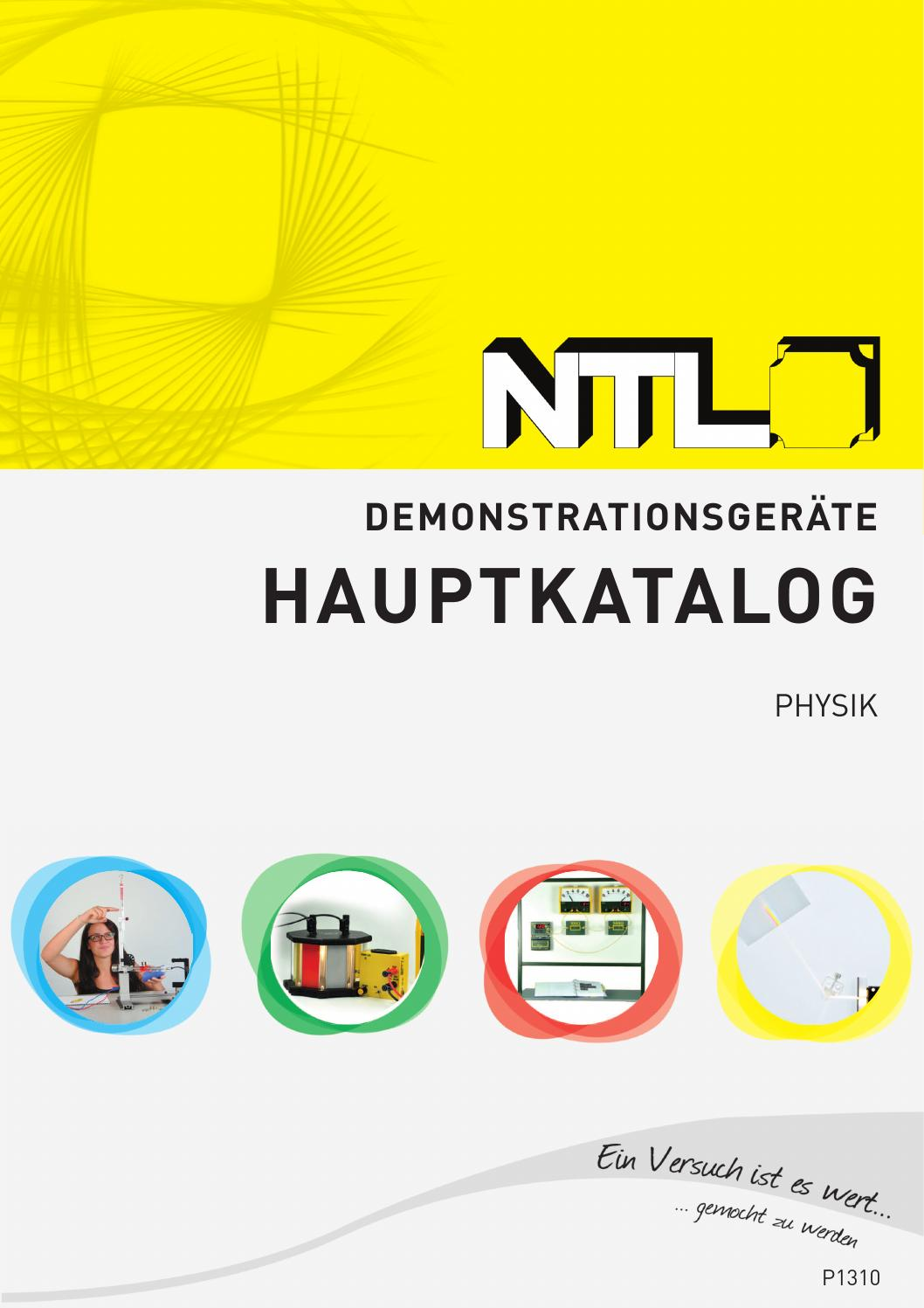 NTL Hauptkatalog P1310 by Fruhmann GmbH NTL Manufacturer ...