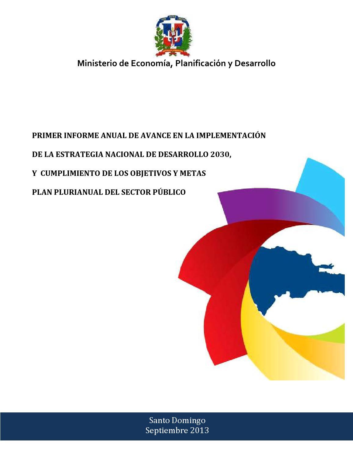 Primer informe avance end 2030 y cumplimiento objetivos y metas ...