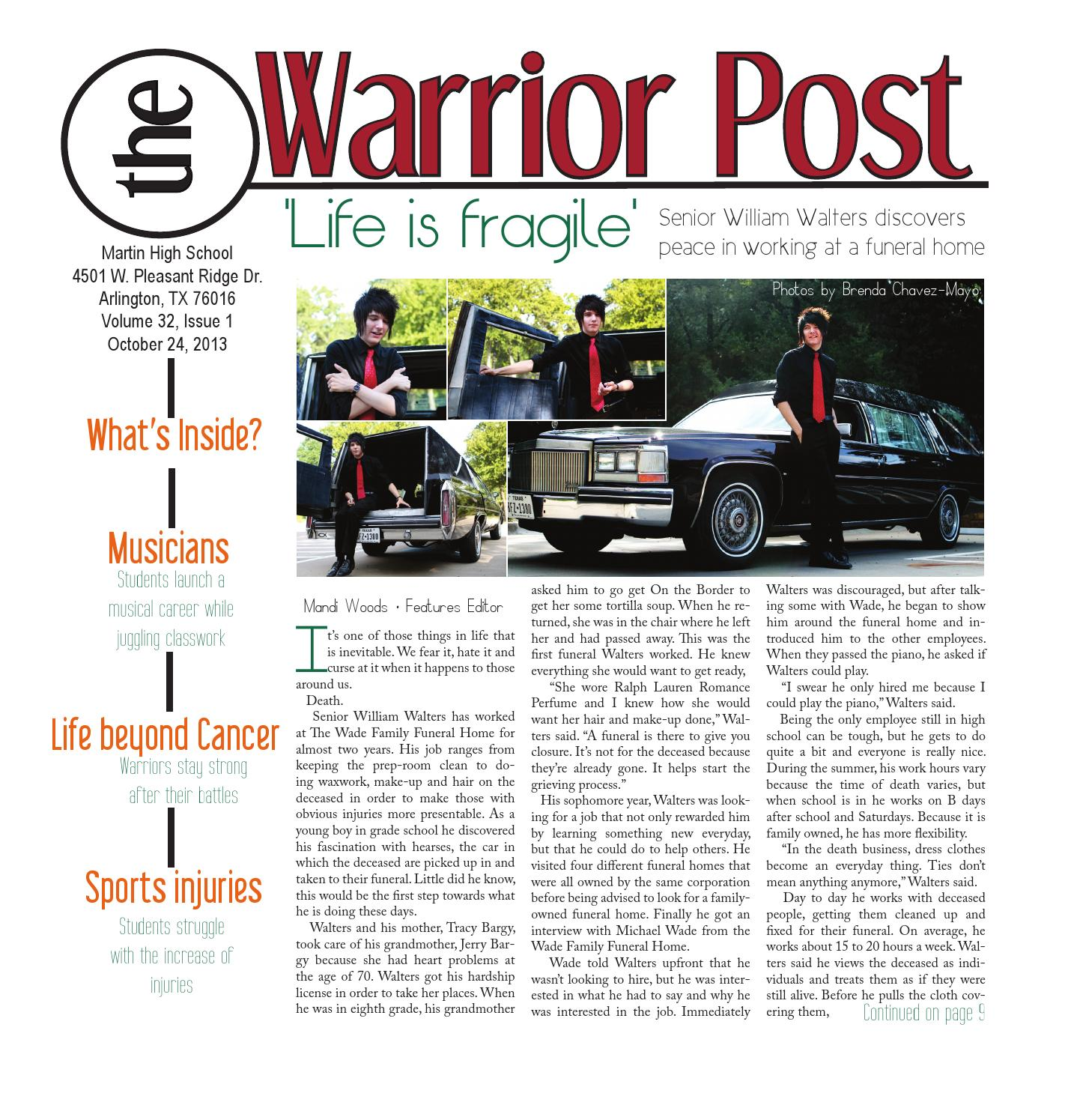 The warrior post october 2013 by tricia regalado issuu aiddatafo Choice Image