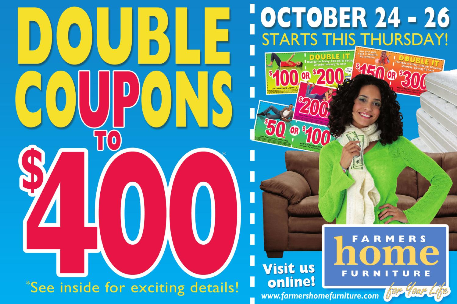 Double Coupon Sale By Farmers Home Furniture Issuu