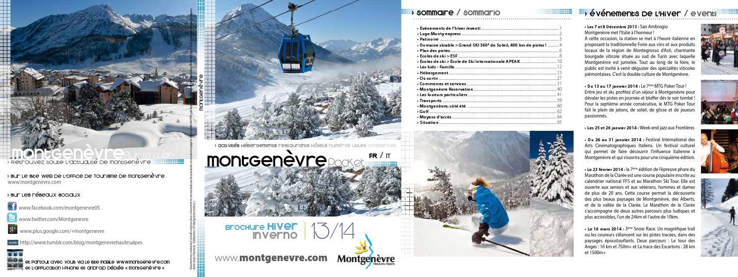 Brochure hiver 2013 2014 by ot montgen vre issuu - Montgenevre office tourisme ...