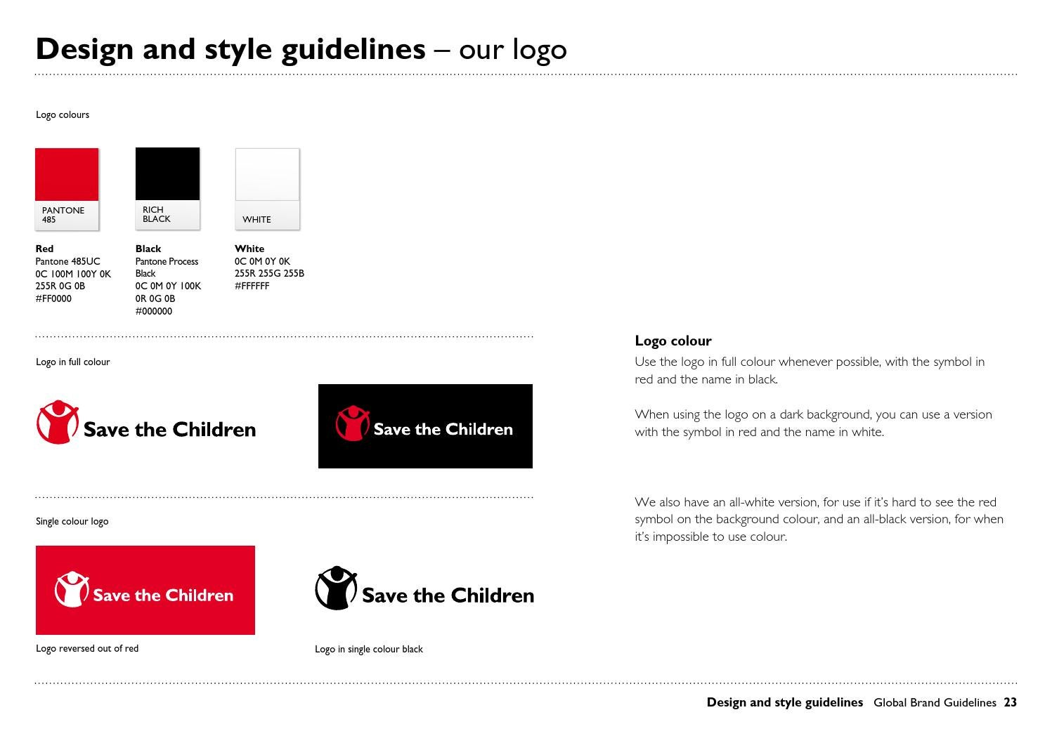 Save the Children global brand guidelines