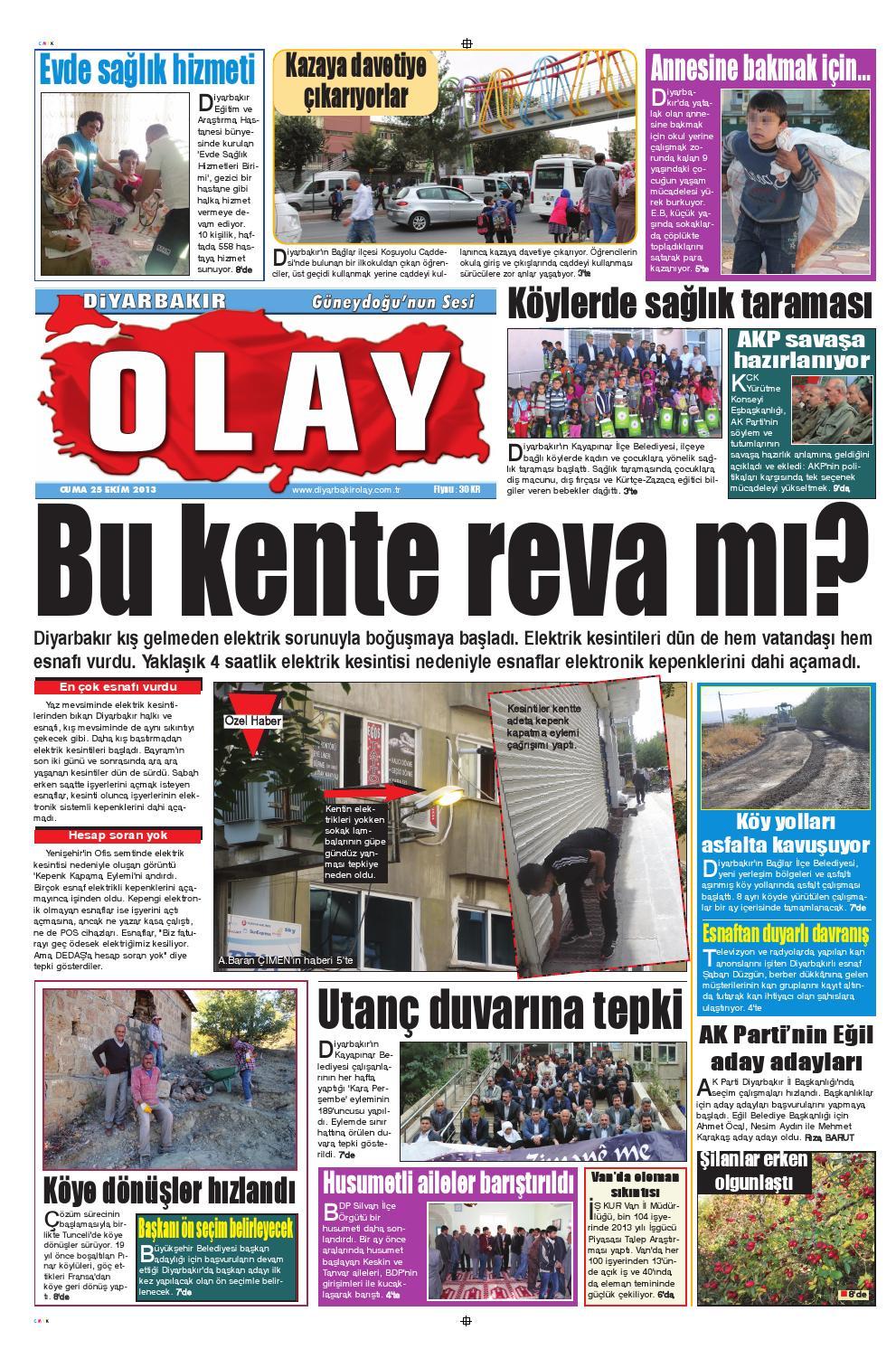 25 10 2013 Gazete Sayfalari By Diyarbakir Olaygazetesi Issuu