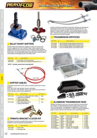 Aeroflow Performance Catalogue by rocket industries pty ltd