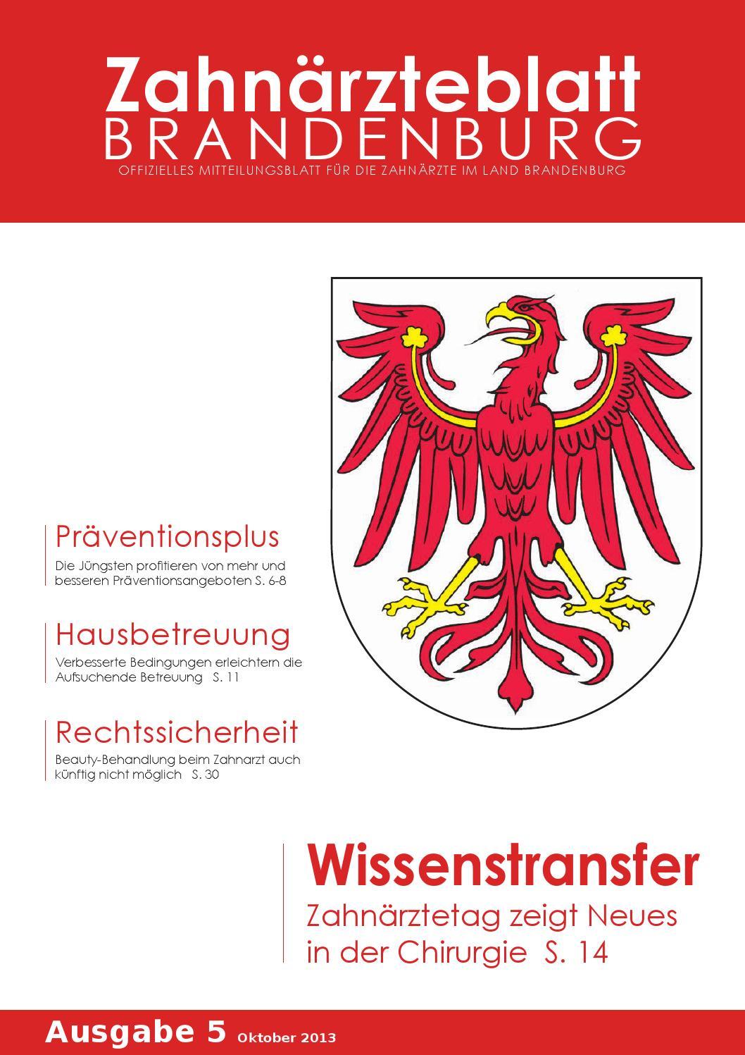 ZBB Ausgabe 5/2013 by KZVLB - issuu