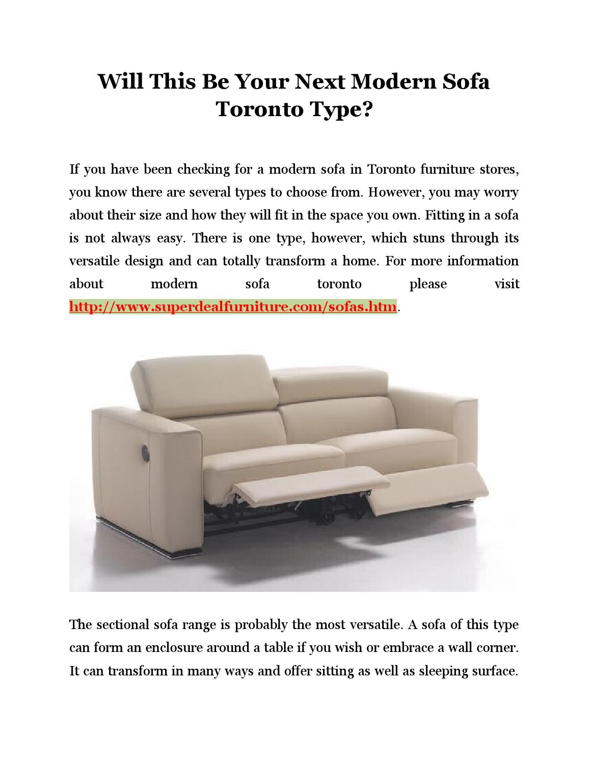 Will This Be Your Next Modern Sofa Toronto Type by ...