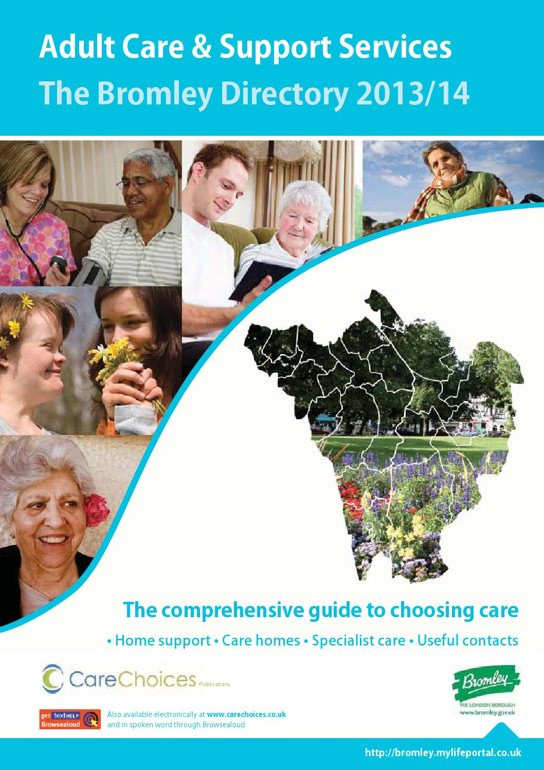 Bromley Directory Adult Care And Support Services 2013 14 By Choices Ltd