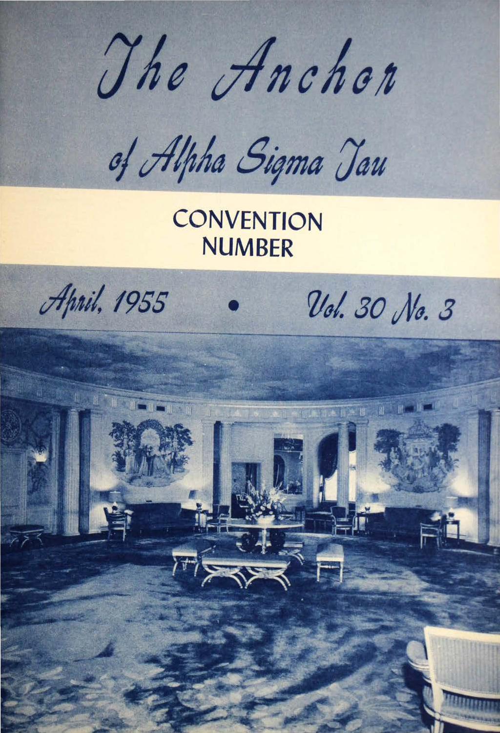 1955 April ANCHOR by Alpha Sigma Tau National Sorority - issuu