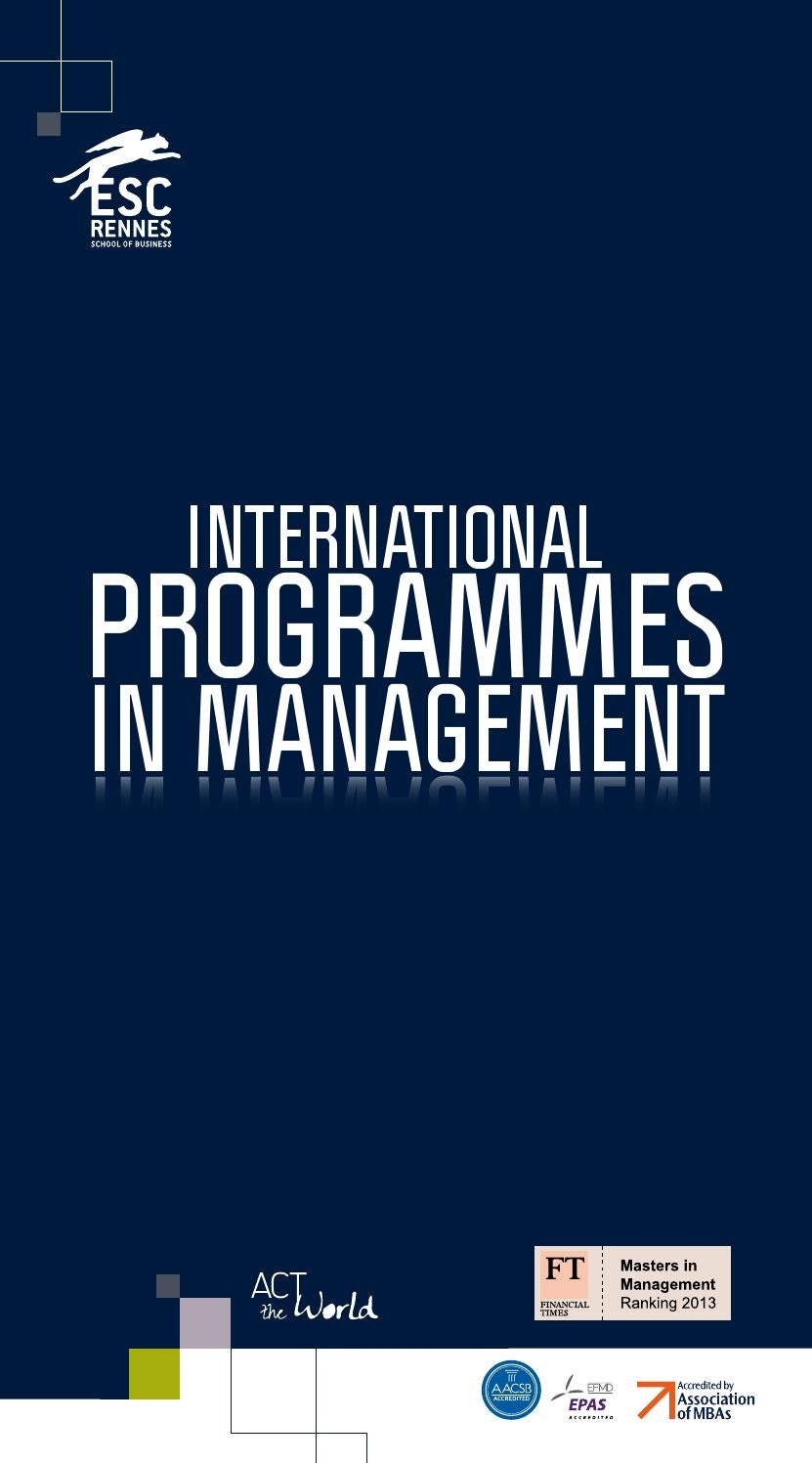 Programmes Masters Internationaux De Lesc Rennes School Of
