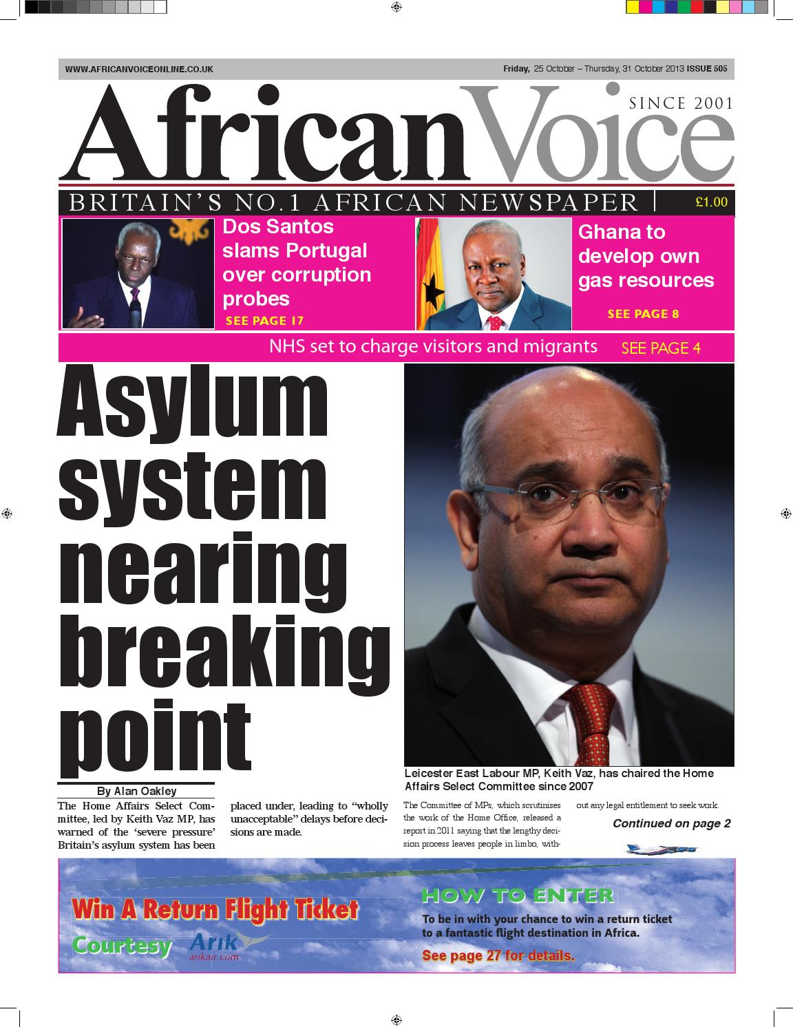 ce2095f62271 African voice 505 by African Voice Newspapers UK - issuu