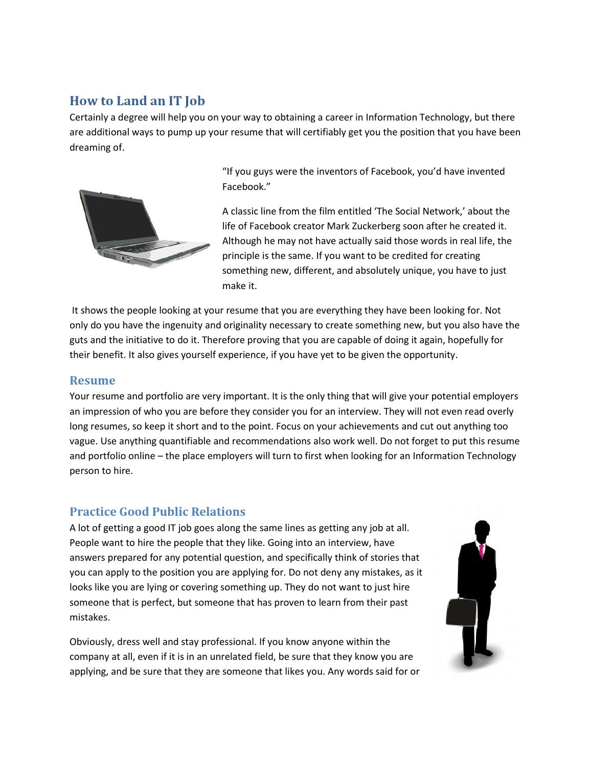 How To Land An It Job By Donald Quixote Issuu