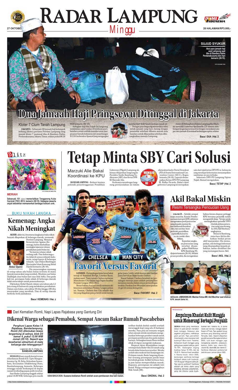 Radar Lampung Minggu 27 Oktober 2013 By Ayep Kancee Issuu Celana Bahan Remaja Dik Ary Collection Bdg