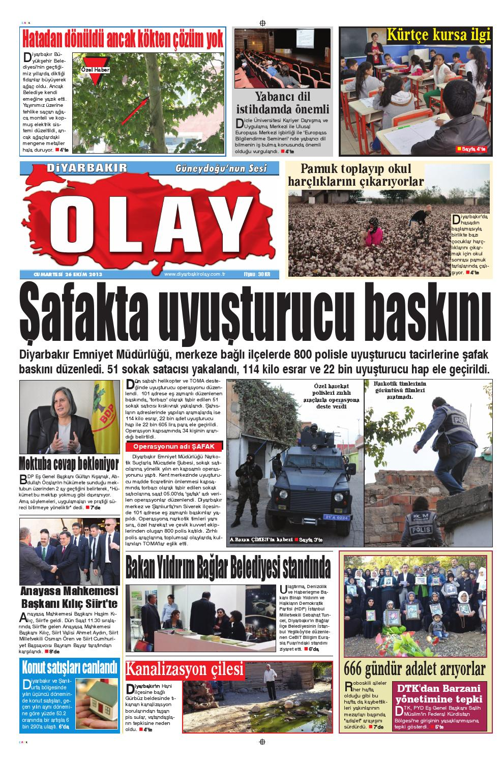 26 10 2013 Gazete Sayfalari By Diyarbakir Olaygazetesi Issuu