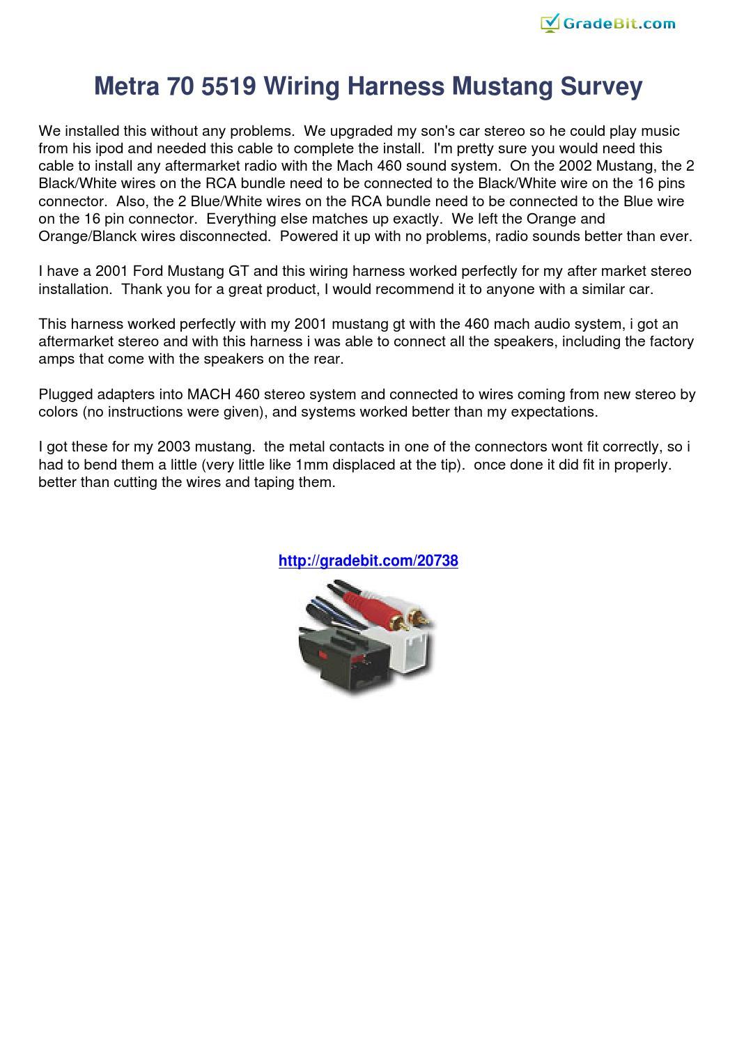 metra 70 5519 wiring harness mustang survey 20738