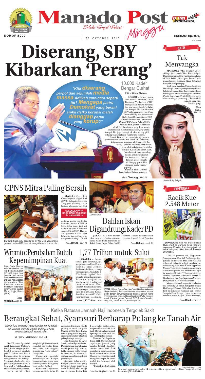 Manado Post 27 Oktober 2013 By Issuu Tcash Vaganza 28 Sambal Bawang Bu Rudy Khas Surabaya