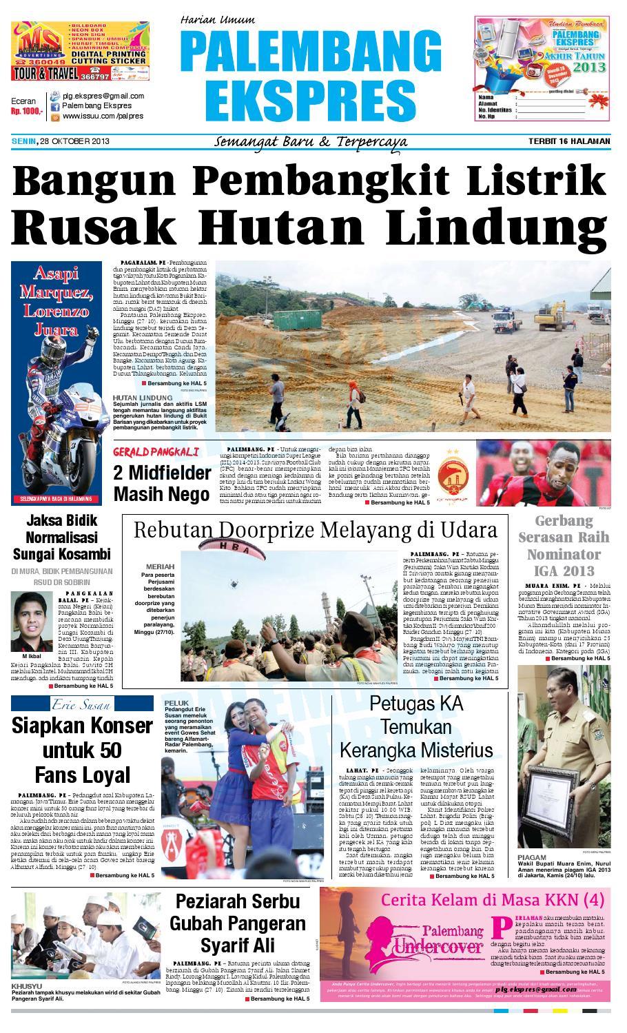 Palembang Ekspres Senin, 28 Oktober 2013 by Palembang