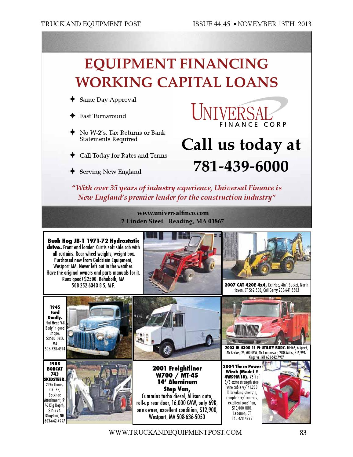 Truck equipment post 44 45 2013 by 1ClickAway - issuu