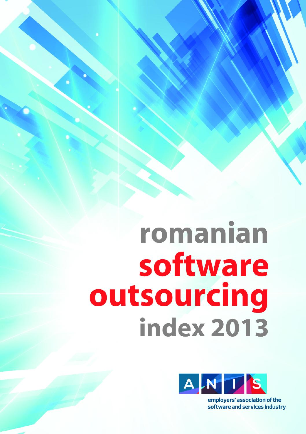 Romanian software outsourcing index 2013 by ANIS_Romania - issuu