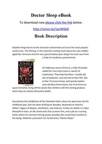 Doctor sleep ebook by doctorsleep issuu doctor sleep ebook to download now please click the link below httpamzn1anw5kd fandeluxe Ebook collections
