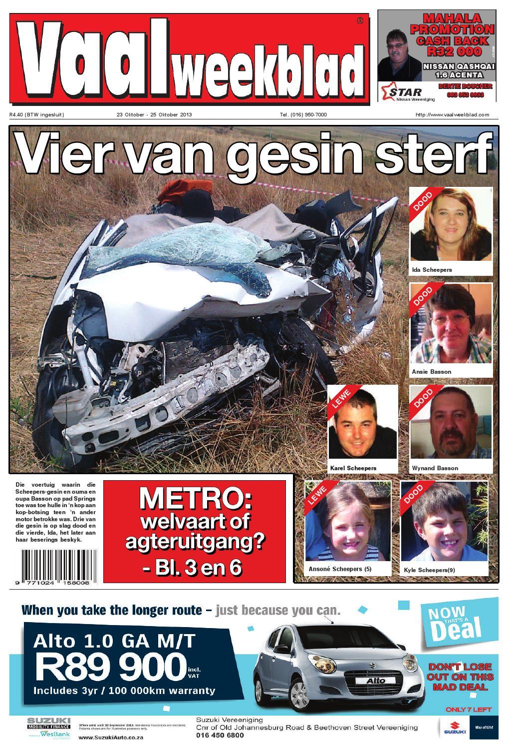 vaalweekblad 24 oktober 2013 by vaalweekblad issuu