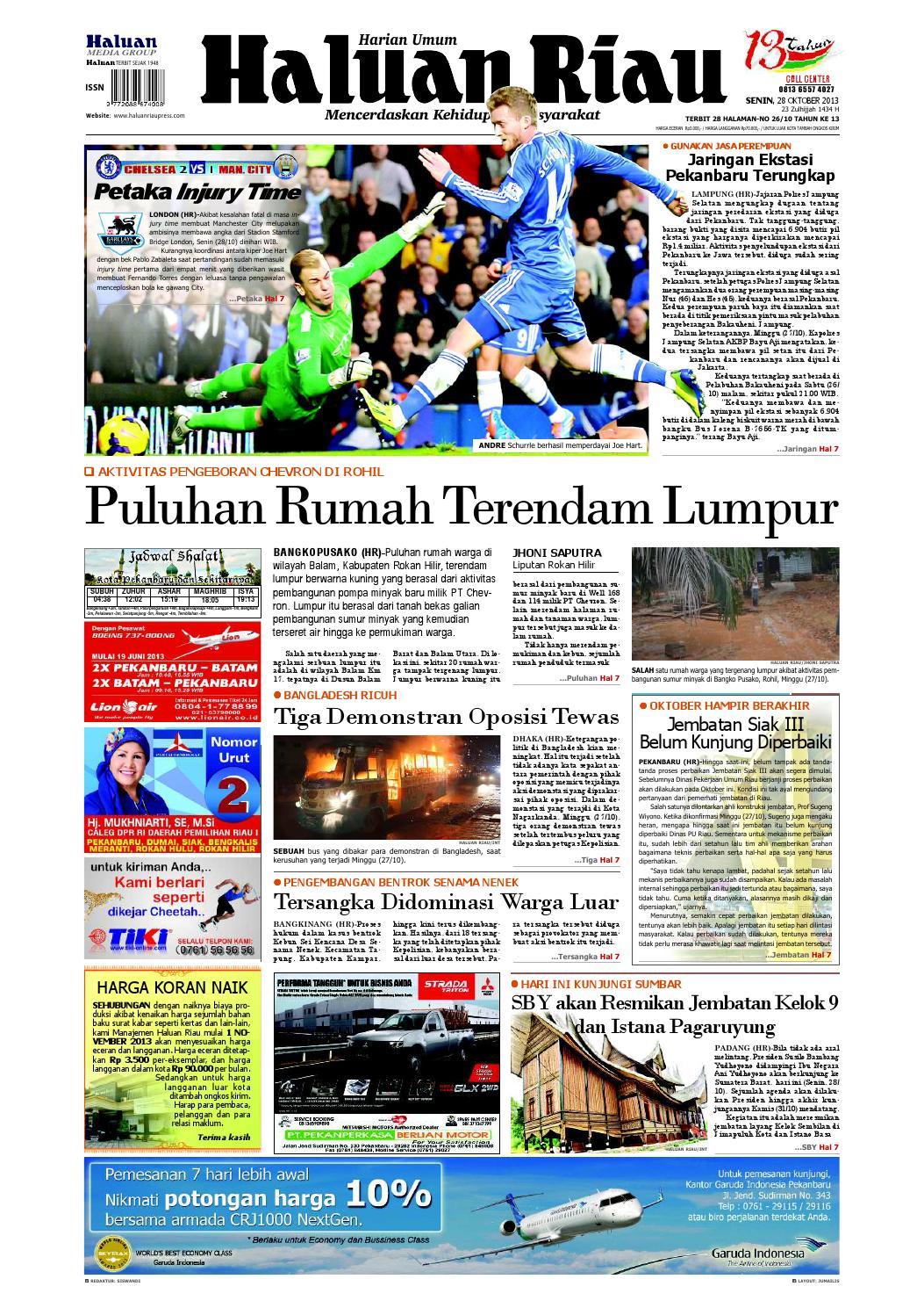 Haluanriau 2013 10 28 By Haluan Riau Issuu