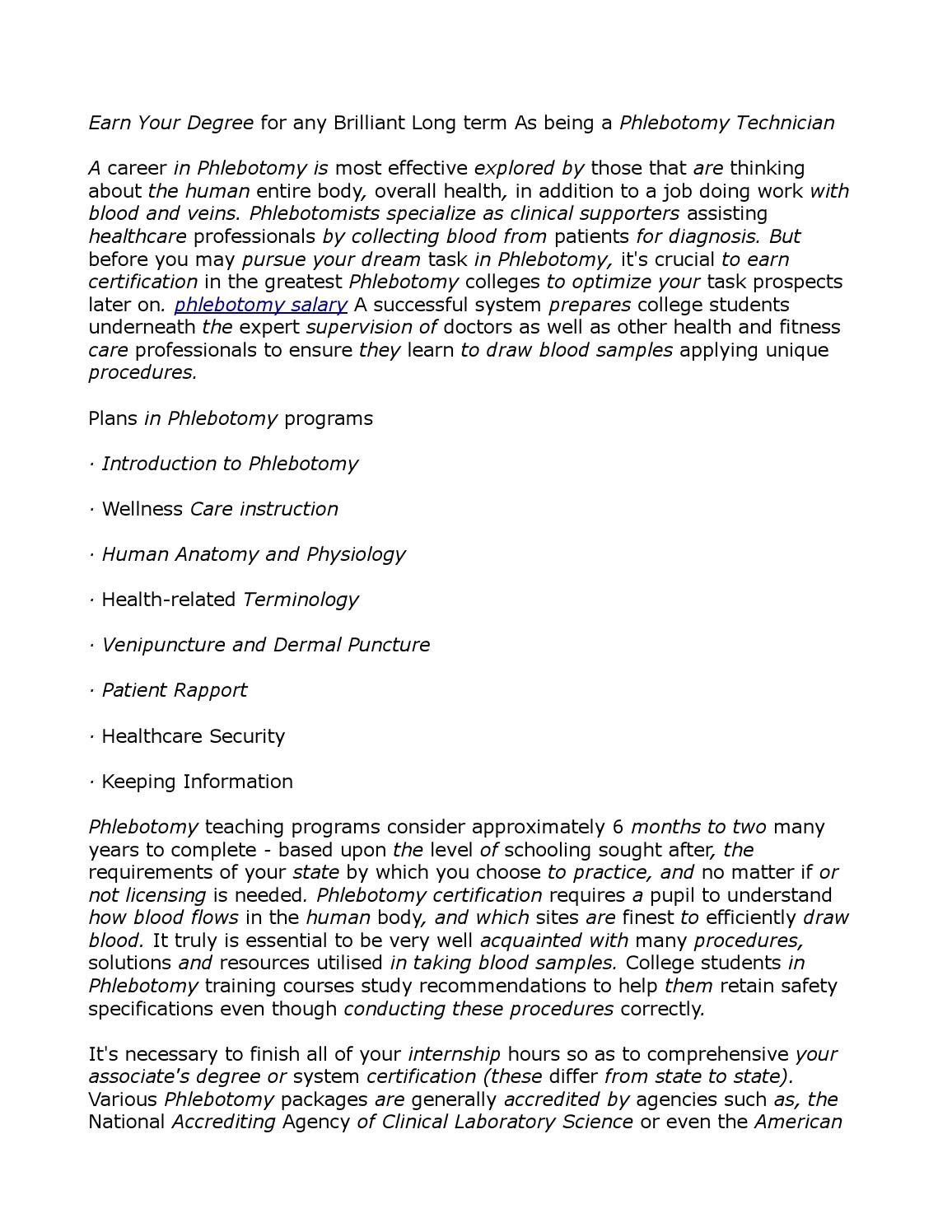 Phlebotomy Salary 23 By Annette2724 Issuu