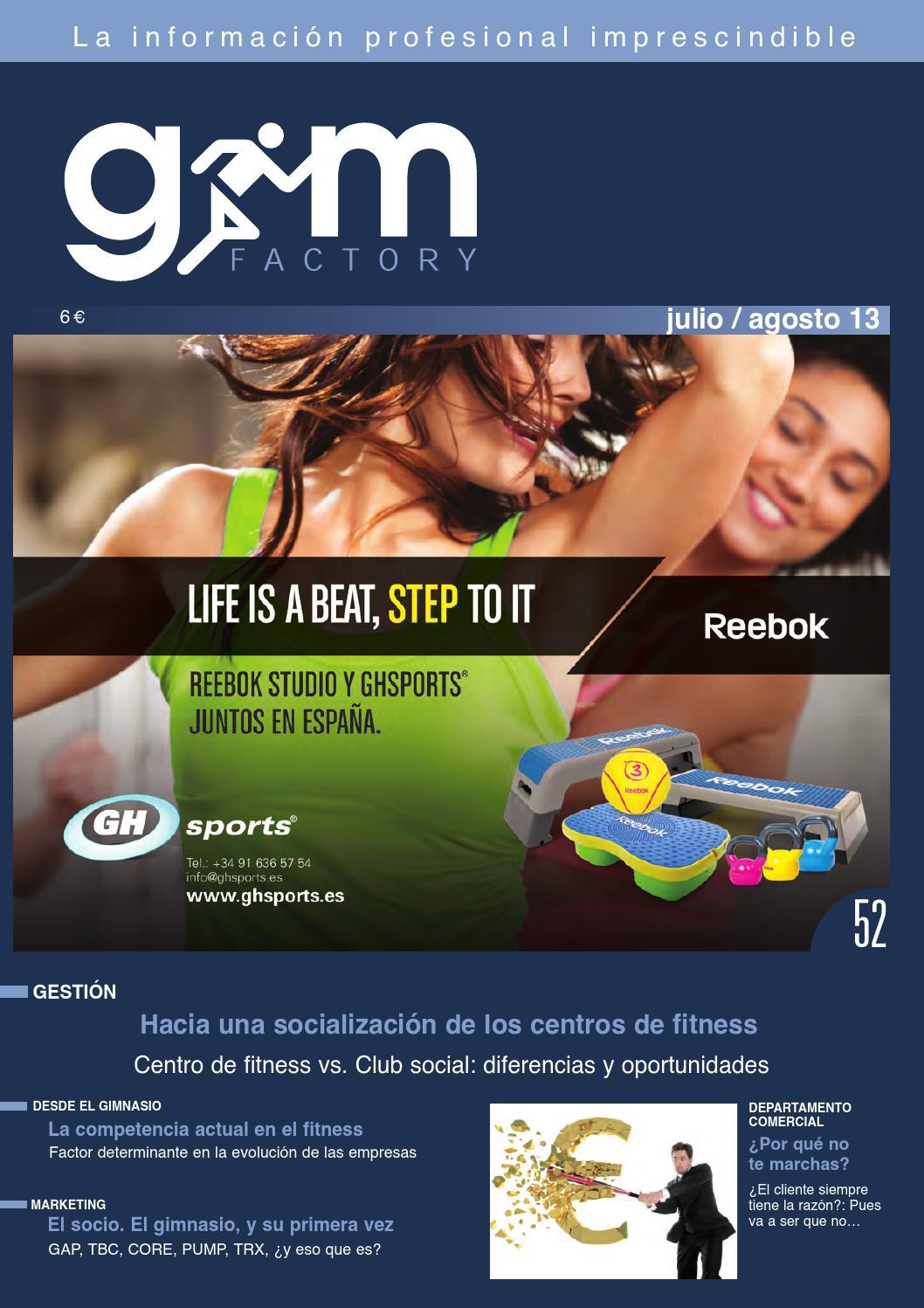 Gym Factory nº 52 Gestión Julio - Agosto 2013 by Gym Factory Magazine -  issuu 39c06d464013