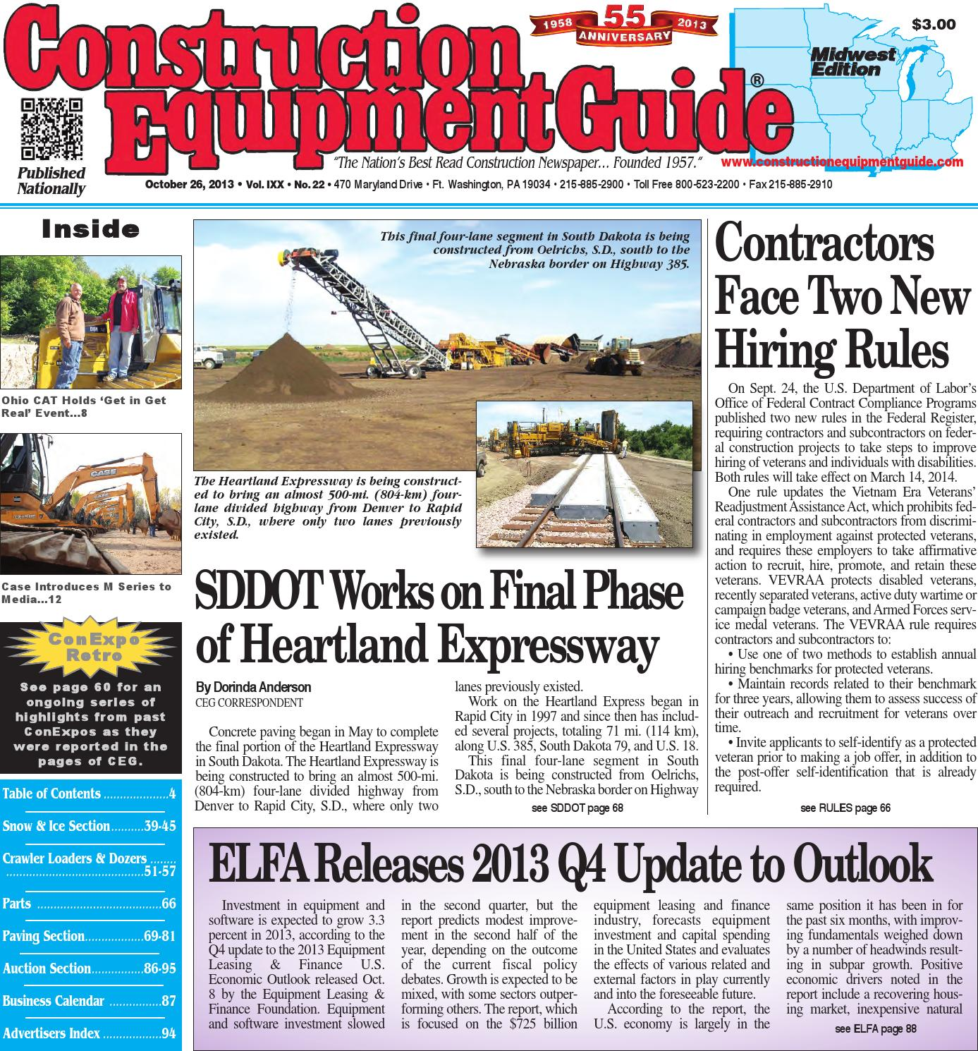 Midwest 22 2013 By Construction Equipment Guide Issuu Door Closure Wiring Diagram 279c Cat