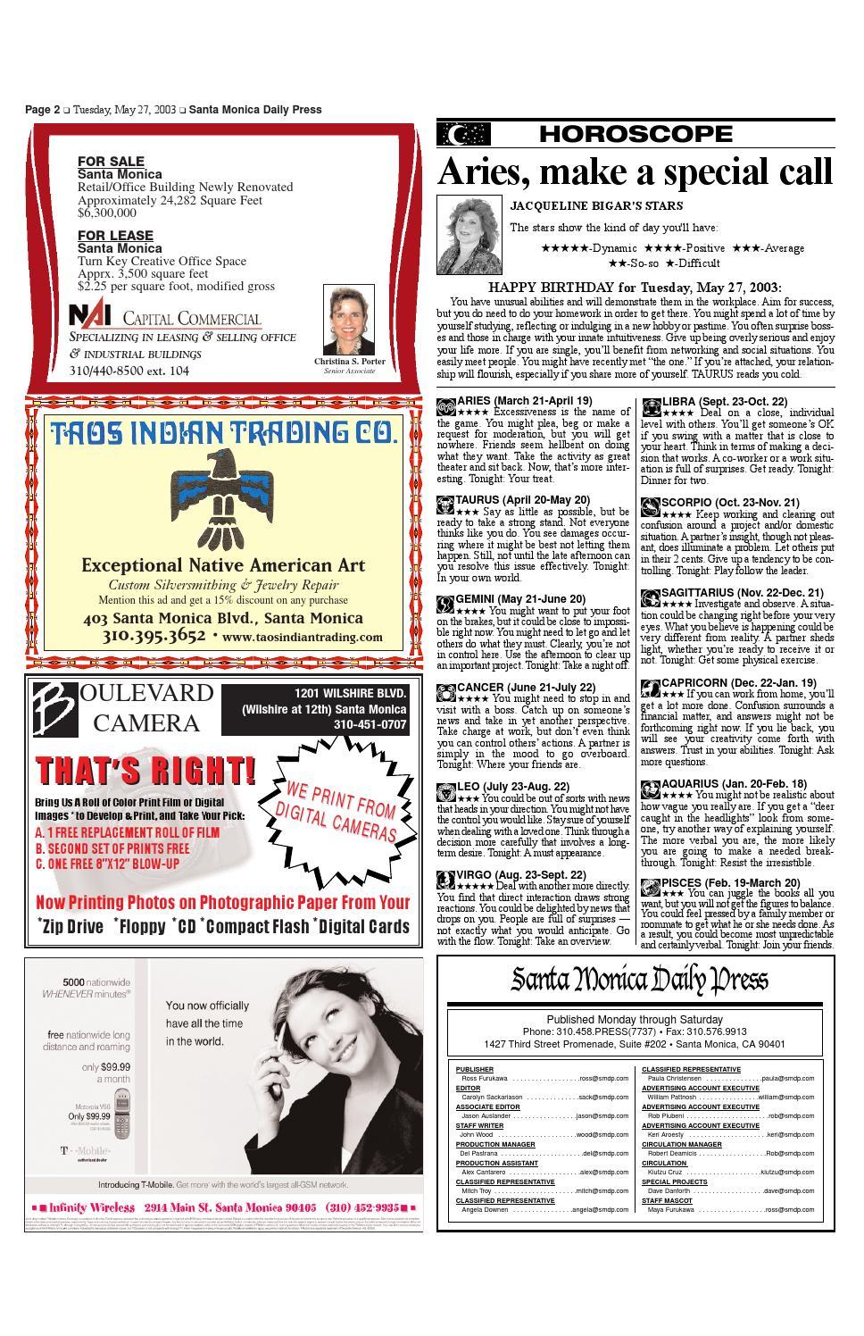 Santa Monica Daily Press, May 27, 2003 by Santa Monica Daily