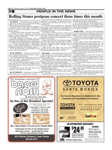Toyota Santa Monica Service >> Santa Monica Daily Press August 23 2003 By Santa Monica Daily
