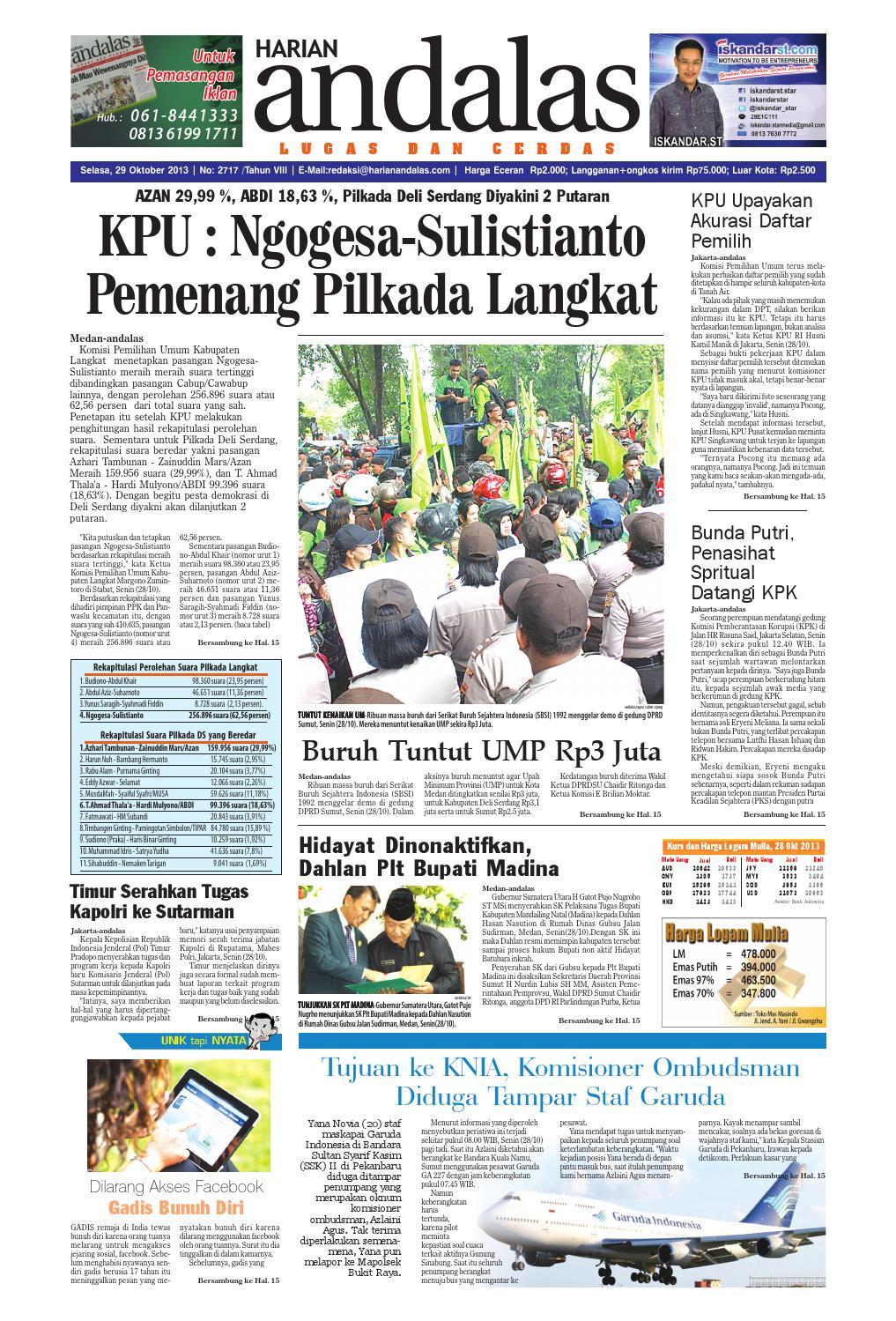 a02427eafb49d Epaper andalas edisi selasa 29 oktober 2013 by media andalas - issuu