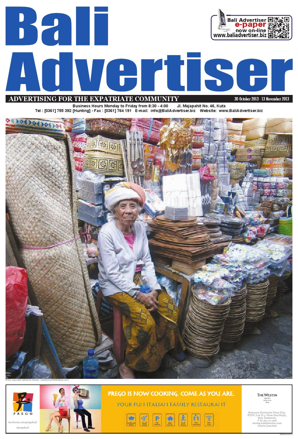 BA 30 October 2013 by Bali Advertiser - issuu