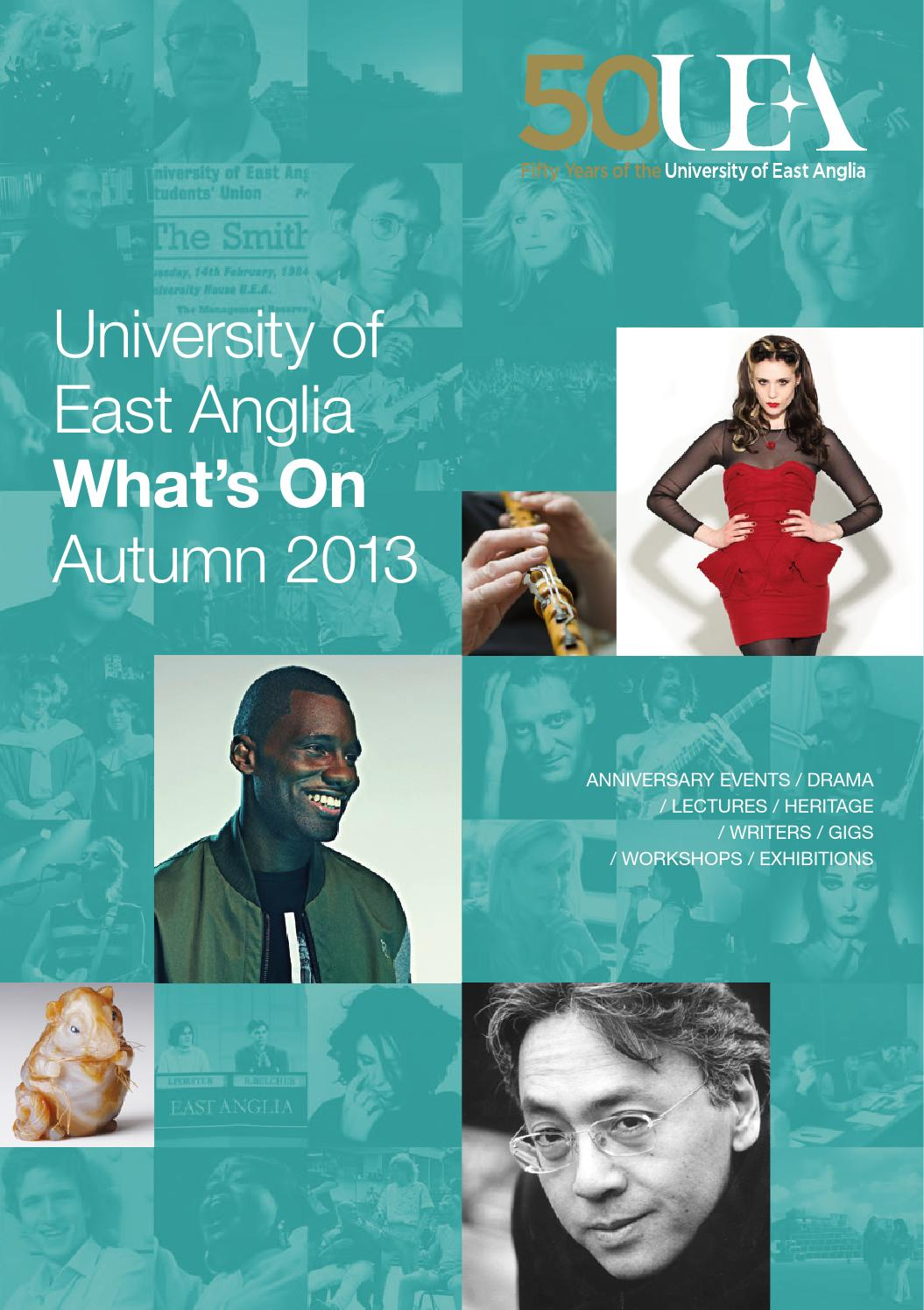 What's On at UEA - autumn 2013 by What's On at UEA - issuu